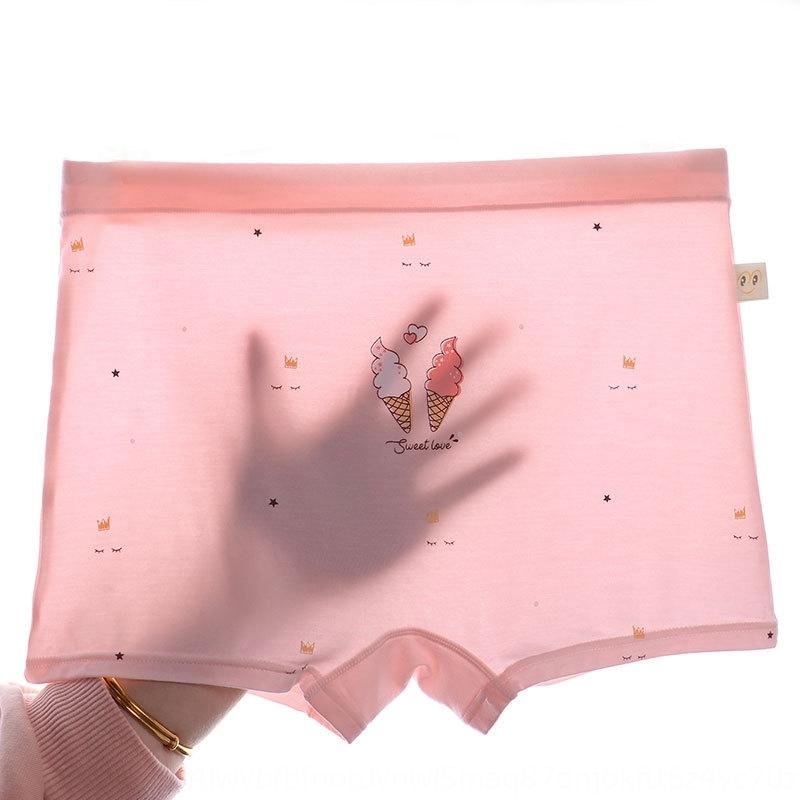 Summer children's underwear medium and large children's modal girls' underwear boxers large size girls' breathable printed boxers