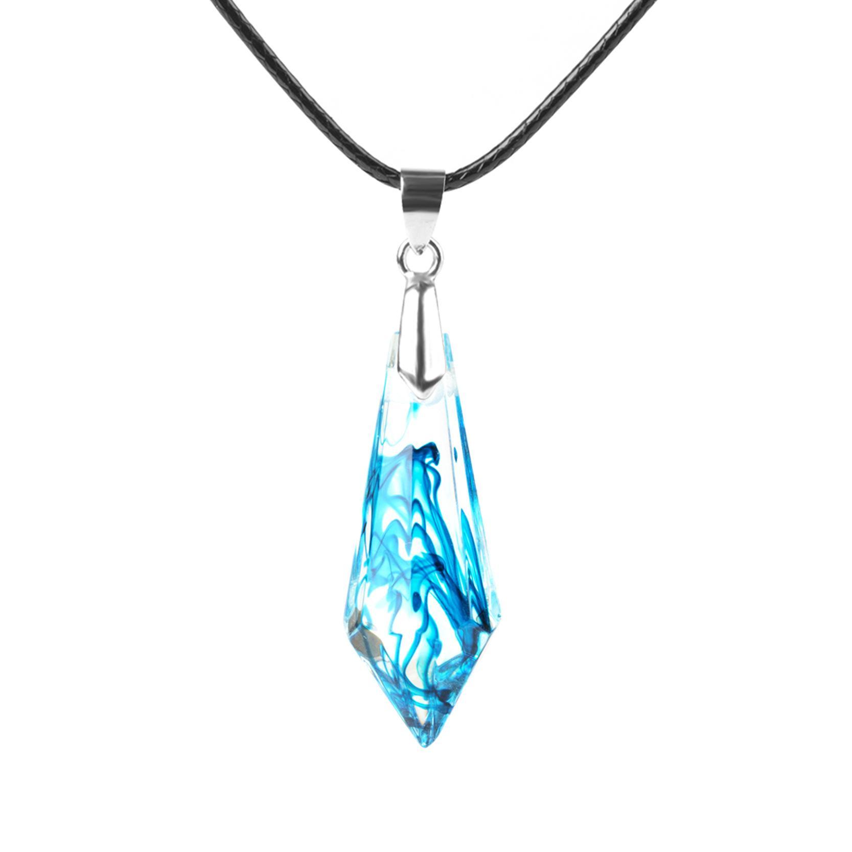 Charm donne fragili incanta il reale naturale fatto a mano in resina geometrico il pendente della collana di bellezza Dichiarazione corda catena epossidica gioielli ps1201