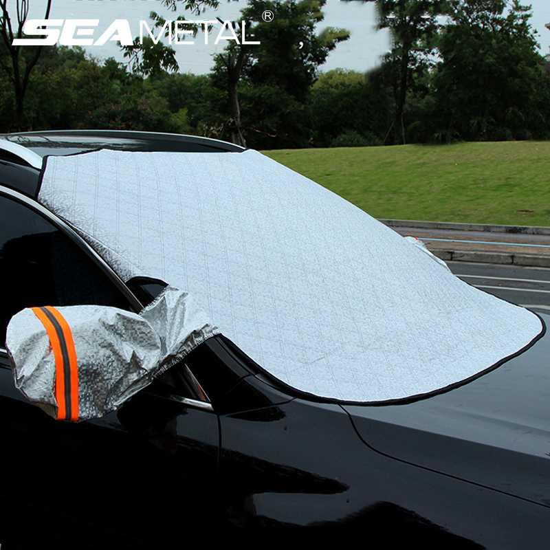 Universal Car Windshield Snow Cover Magnetic Car Windscreen Snow Covers Sunshade Hail Ice Blocked Sun Dust Frost Protection