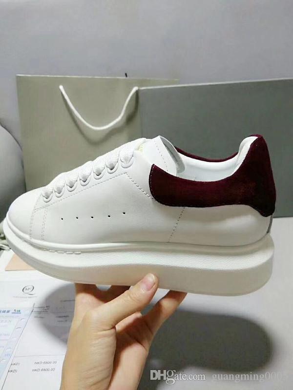 Desenha sapatos Red fundo luxo partido sapatilha sapatos de casamento couro genuíno Spikes Lace-up Casual Shoes xrx19040302