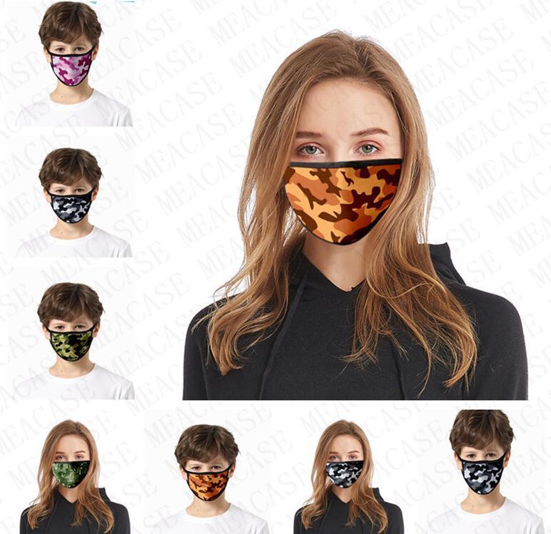 Máscara Facial de respiro da tampa da boca de camuflagem Máscaras de impressão de face anti-poeira Haze Mask Sports Ciclismo para crianças e mulheres dos homens VENDA D72803