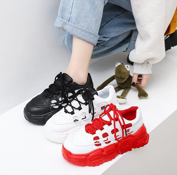 Women's students all-match sports shoes 2020 spring and summer new ins net red breathable sports casual shoes trend