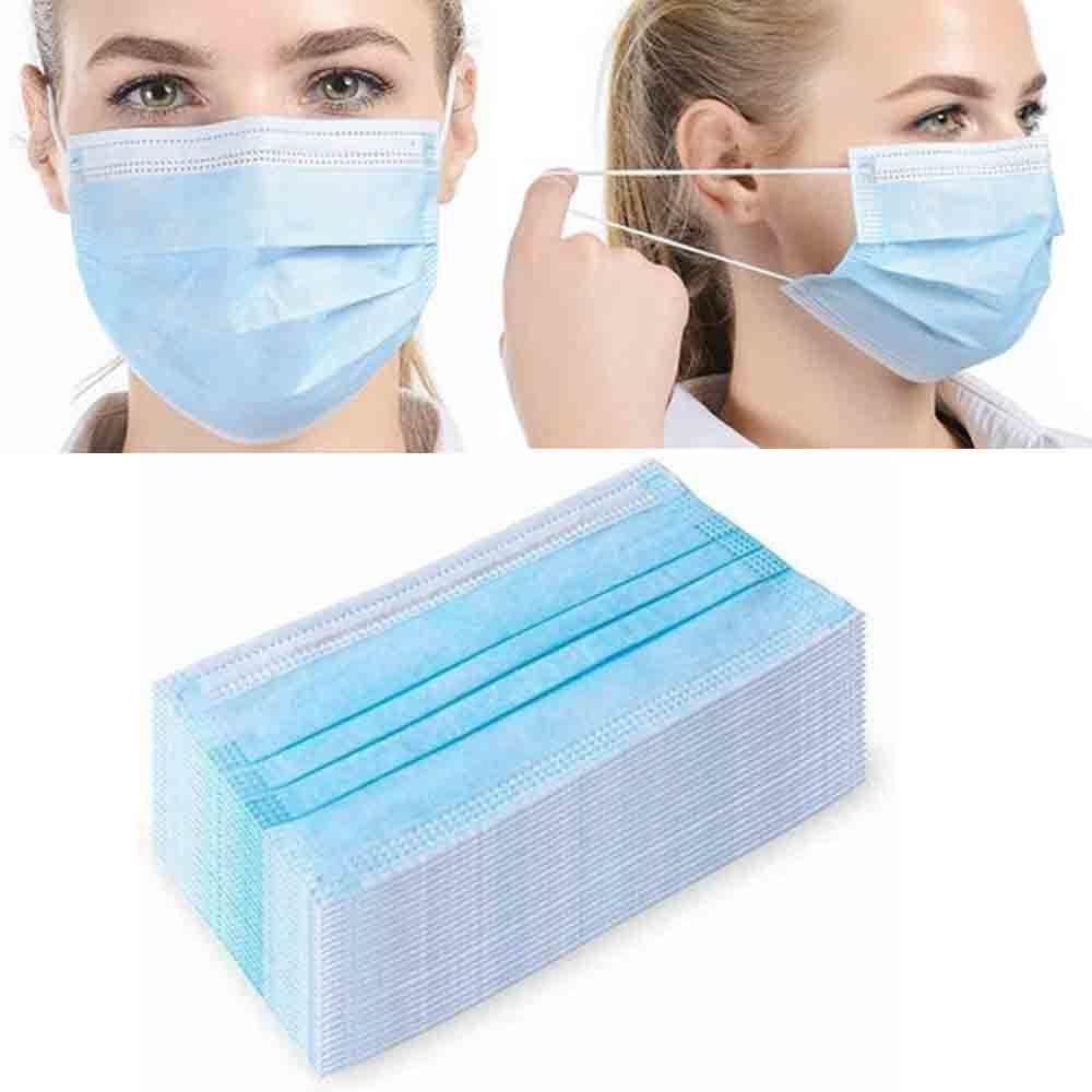 Desechable Pink entrega rápida Azul Negro Colores de 3 capas de tela protectora boca máscara máscaras Mascherine polvo de algodón de la cara