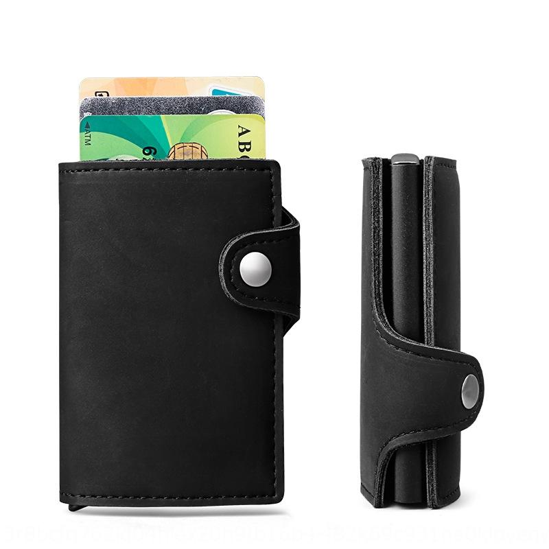Porte de crédit automatique dan ka anti-vol carte de sac de carte sac en alliage d'aluminium RFID PU pi ka Bao boîte de cartes bancaires