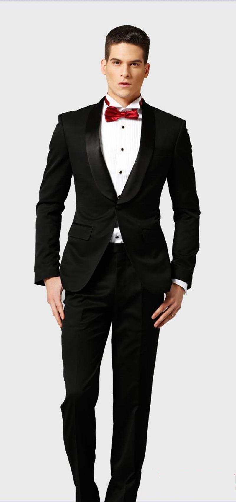 Классический шаль отворотом смокинги жениха свадьба мужчин костюмы мужские свадебные костюмы смокинг костюмы де вылить Hommes мужчин (куртка + брюки + галстук) Y171