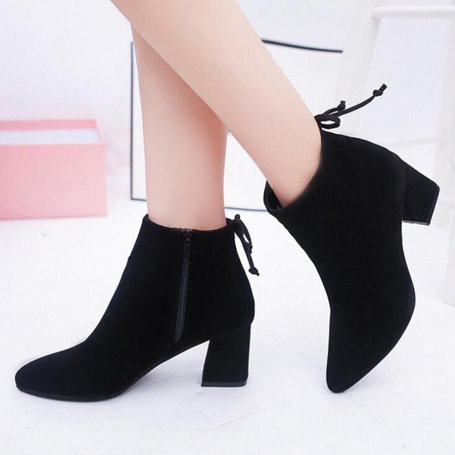 MHYONS 2019 зима Женская обувь Женщина Boots Sexy Высокие каблуки Ботильоны женская обувь пинетки женщин перевозка груза падения fY2r #
