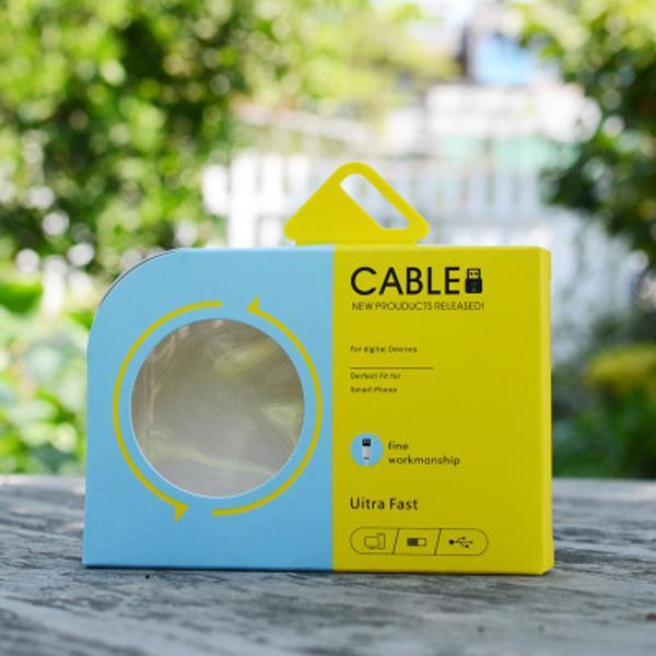 De lujo color del papel de embalaje paquete al por menor Caja Cajas con inserto de plástico para el cable de teléfono Samsung S9 iPhone Note8 X 8 7 6 Datos cable de sincronización
