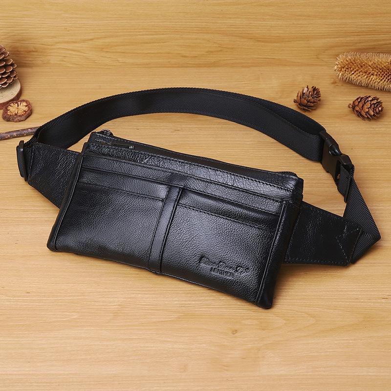 bolso de couro multi-função cintura carga unisex executando executando mudança saco do telefone mensageiro do couro pacote de saco de peito multi-compartimento