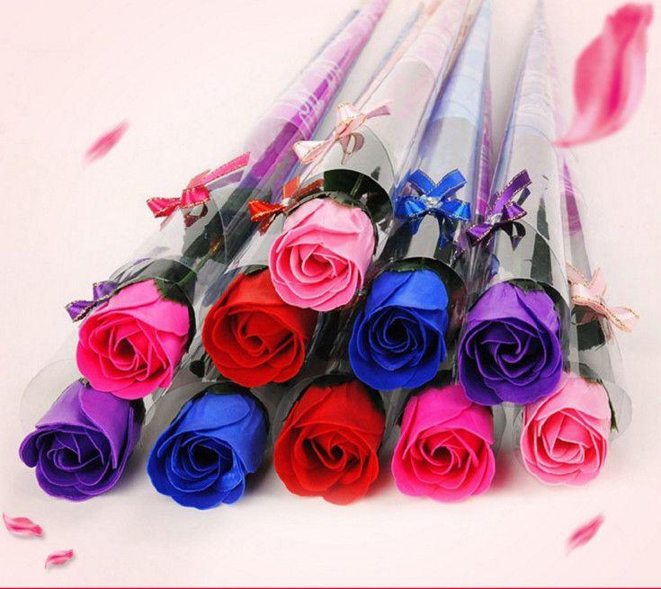 36pcs Цветок Мыла ванны для тела Роза Лепесток венчания День рождения подарки Домашнее украшение 5 цветов цветов Мыло Rose Бесплатная доставка