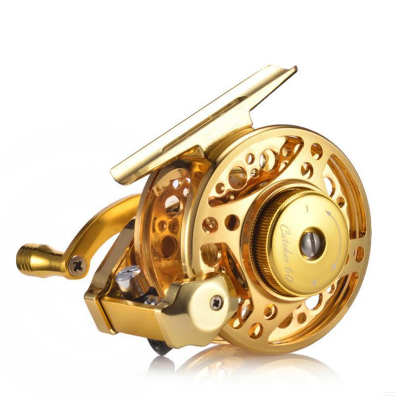 5BB 3.0: 1 65MM mosca bobine di pesca della rotella con piede alto bobine di pesca Wedkarstwo bobina linea pesce Ruote Ice Fishing Ruote de Pesca