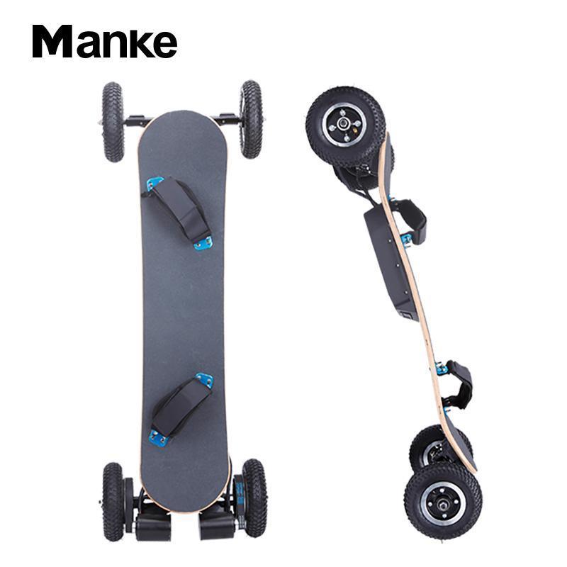 China Fornecedor Manke 1650W * 2 Poderosa 4 rodas off-road skate elétrico de alta performance elétrica skate