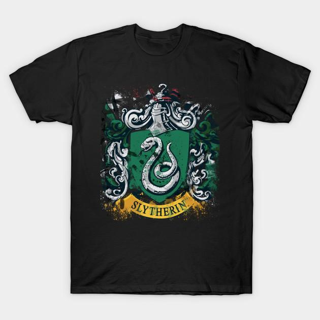 Men t-shirt Slytherlin Splatter Crest tshirt Women t shirt