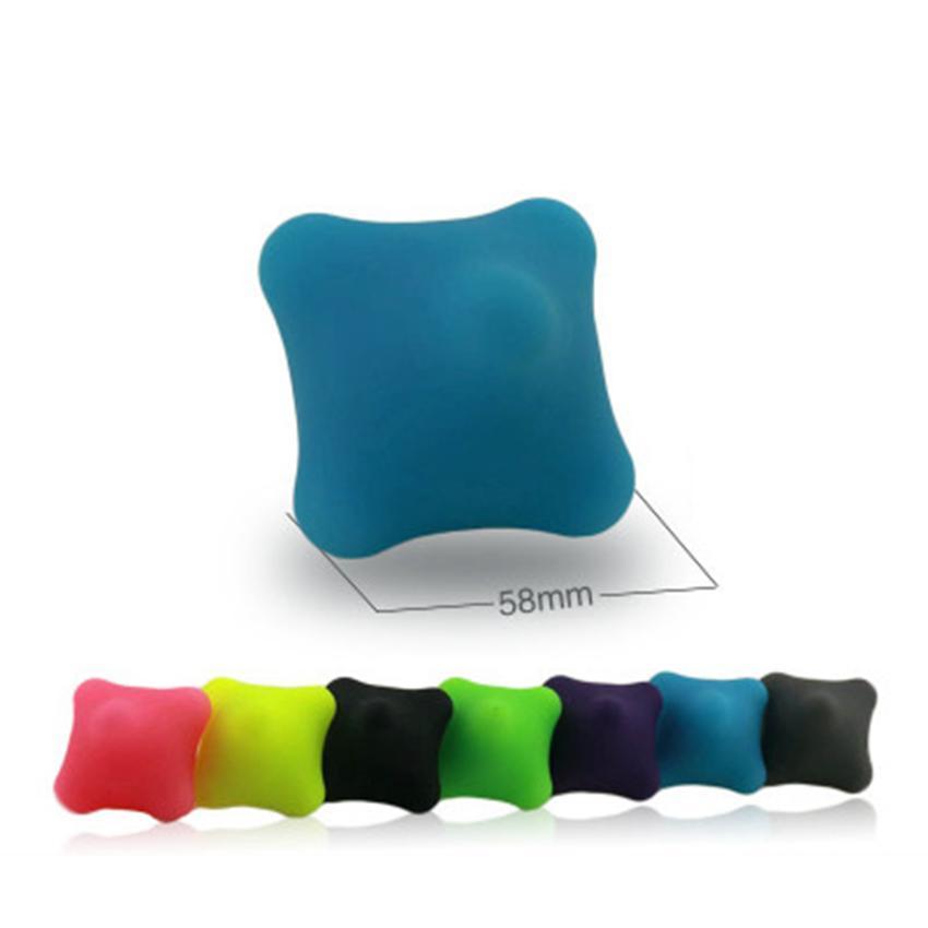Yoga massage balle main acupoint massage relaxation musculaire profonde ballons d'entraînement d'exercice de remise en forme TPR paume boule de stress ZZA790-1