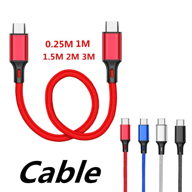 C USB-Kabel 25cm 1m 2m 3m Daten USB-Ladegerät Aufladungsart-c schnellen Kabel-Fabrik Direktvertrieb, brauchen Vorzugspreisen anderen Kontakt Produkte uns