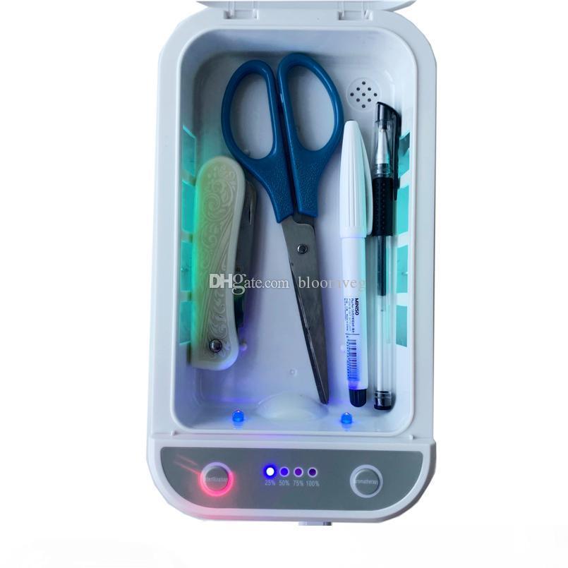 kozmetik maskeleri için UV sterilizasyon lambasının son tasarım cep telefonu mp4 saç araçları tamamen bluetooth Gerçek kişi sesini dezenfeksiyonu