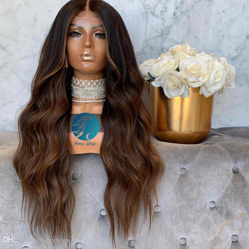 Bebek Saç ağartılmış Knots Remy Perulu Wavy ile 1B 30 Tam Dantel Peruk İnsan Saç% 150 Renkli Uzun Dantel Açık Öncesi Kadınlar için koparıp