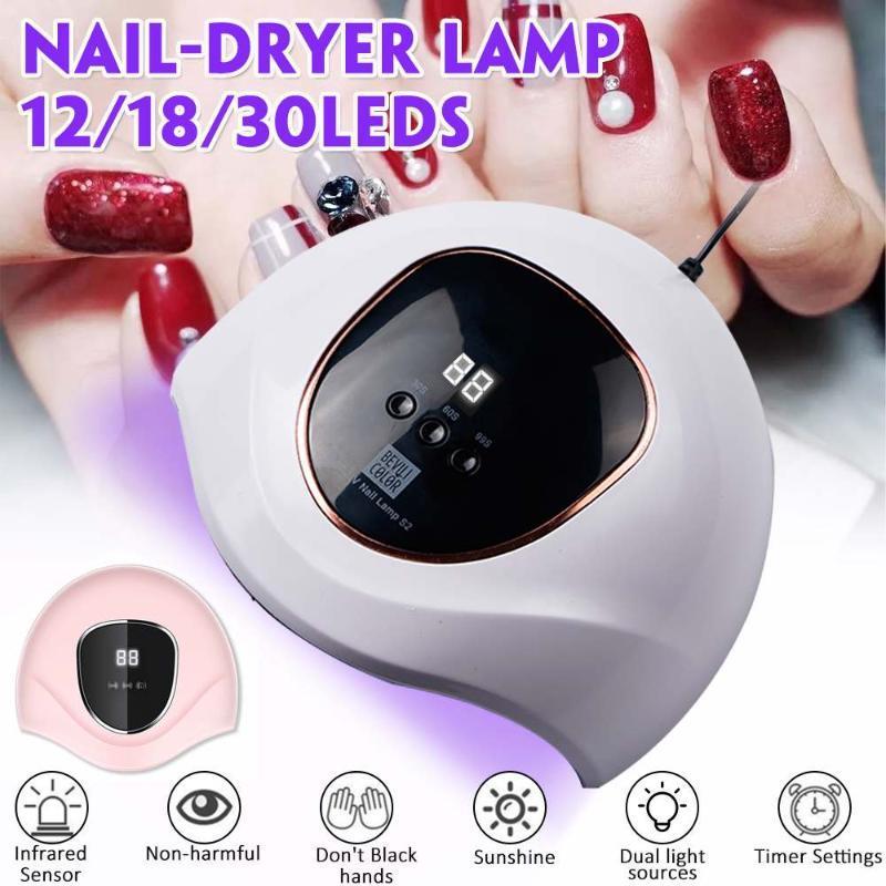 350W Lampe für Maniküre 12/18/30 LED-Lampe für Drying Nägel UV-LED-Nagel-Gel-Nagel-Trocknung Gel-Lack