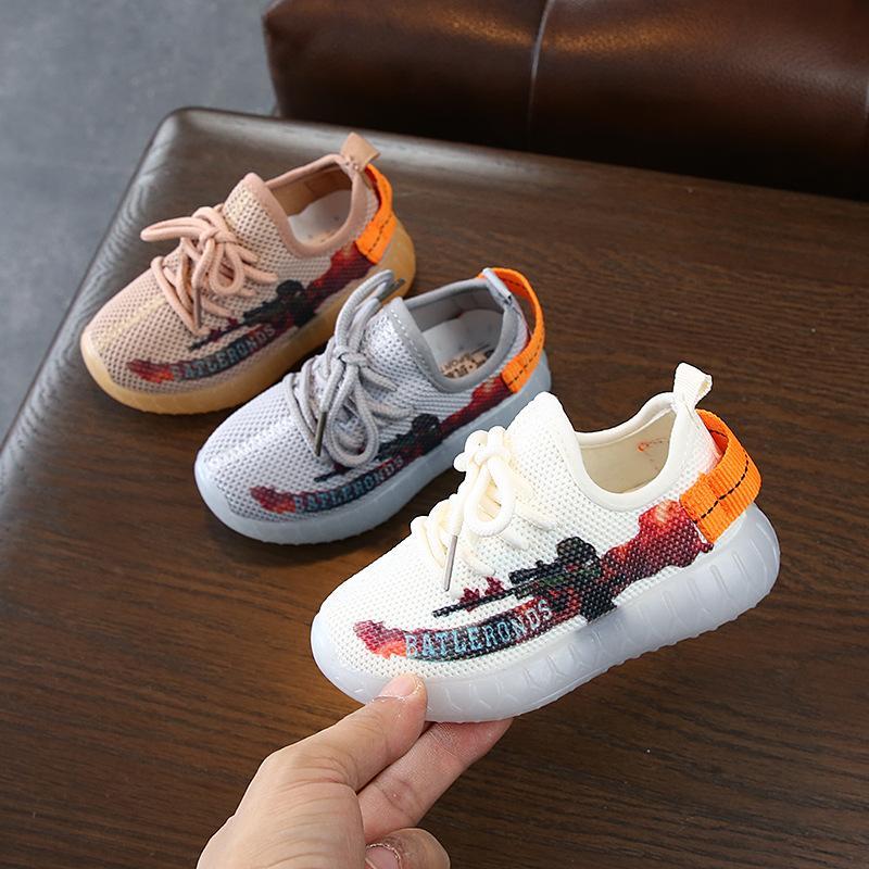Slip-on respirante confortable Matériel d'enfants chaussures de sport pour les filles Chaussures bébé 2020 New Baby Boy Chaussures Filles Chaussures Chil