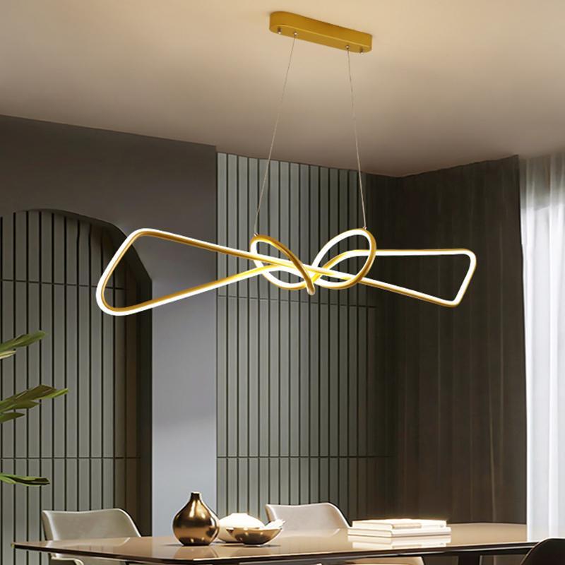 Современный кулон Люстра для офиса Столовая Кухня Алюминиевая волна Luster Avize Современные люстры Светильники