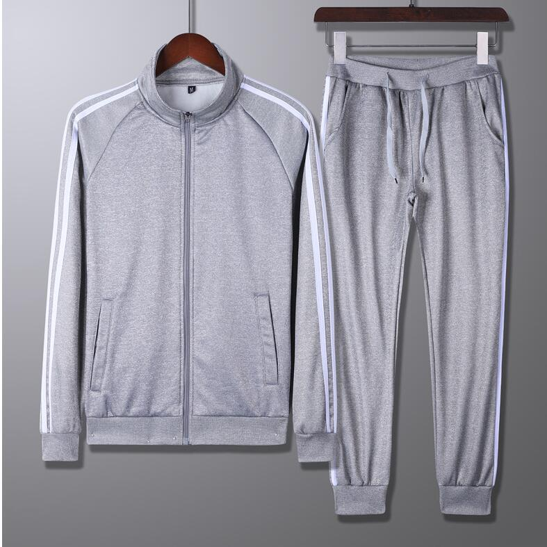 automne taille asiatique nouveau costume de sport de loisirs hommes pull course loisir extérieur vêtements de sport à manches longues deux pièces ensemble gros