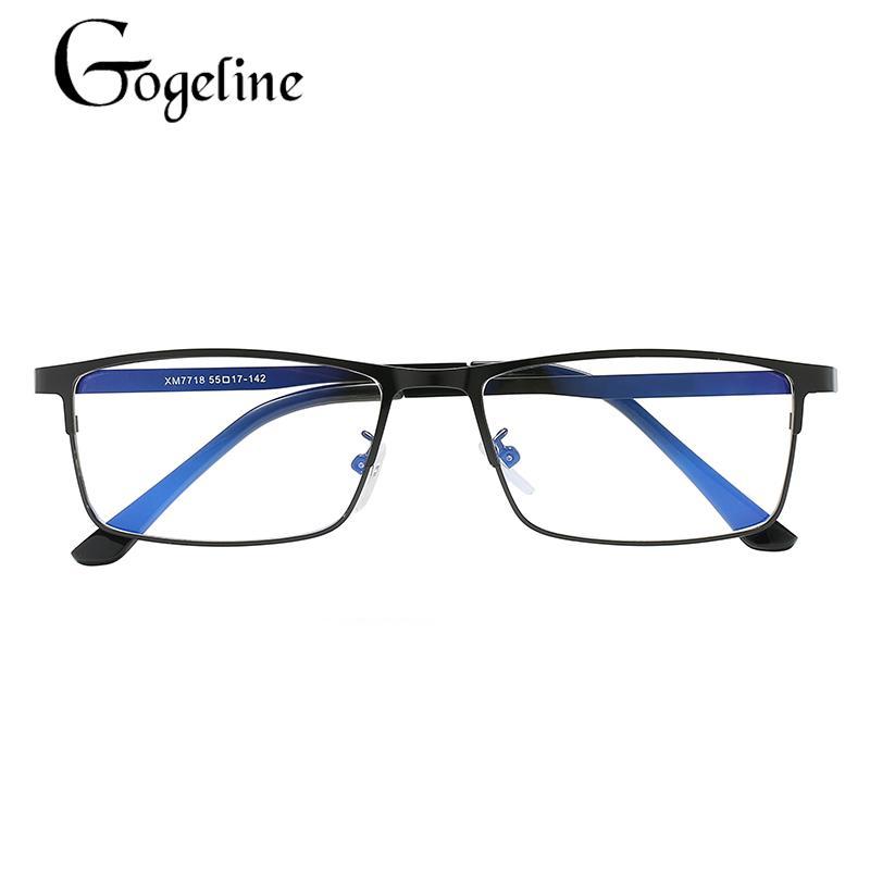 Очки против синего фоджелина светлая рамка UV400 Optician Новые деловые женщины металлические мужчины очки для Qodpt