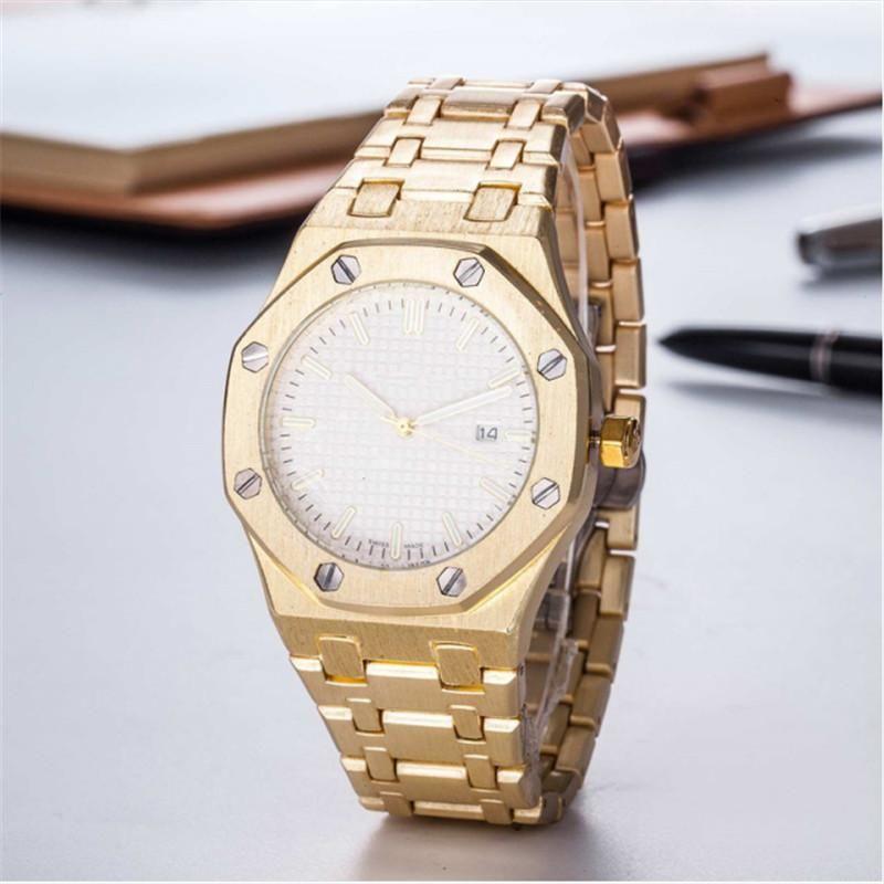 Mens Luxe orologi di moda del quarzo dell'acciaio inossidabile Uomo Casual orologio con calendario superiore impermeabile orologi di sport di trasporto 35