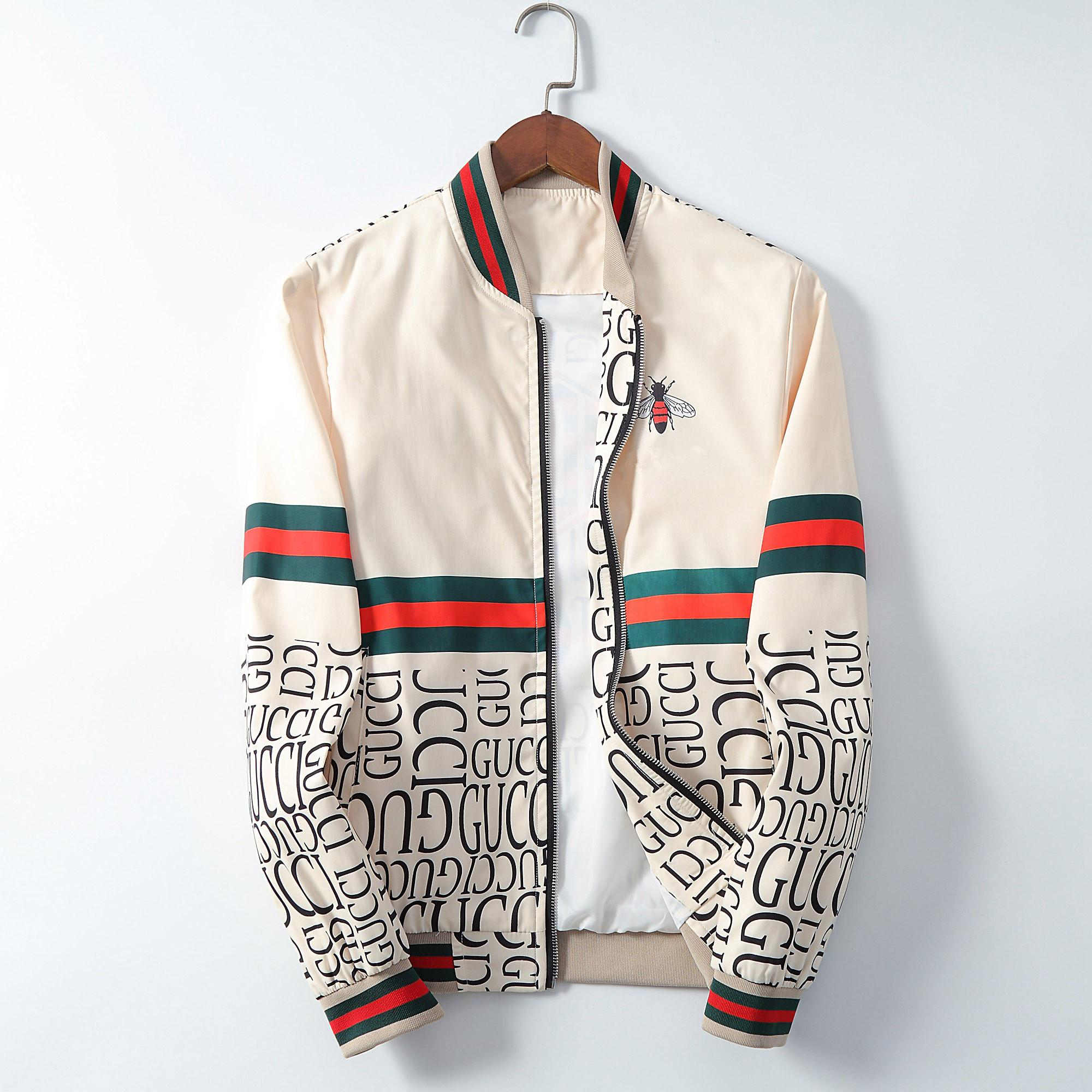 Mens Designer capuche Vestes coupe-vent sport Nouveau Printemps Automne Veste Vêtements décontractés Zipper col imprimé à carreaux Veste Slim