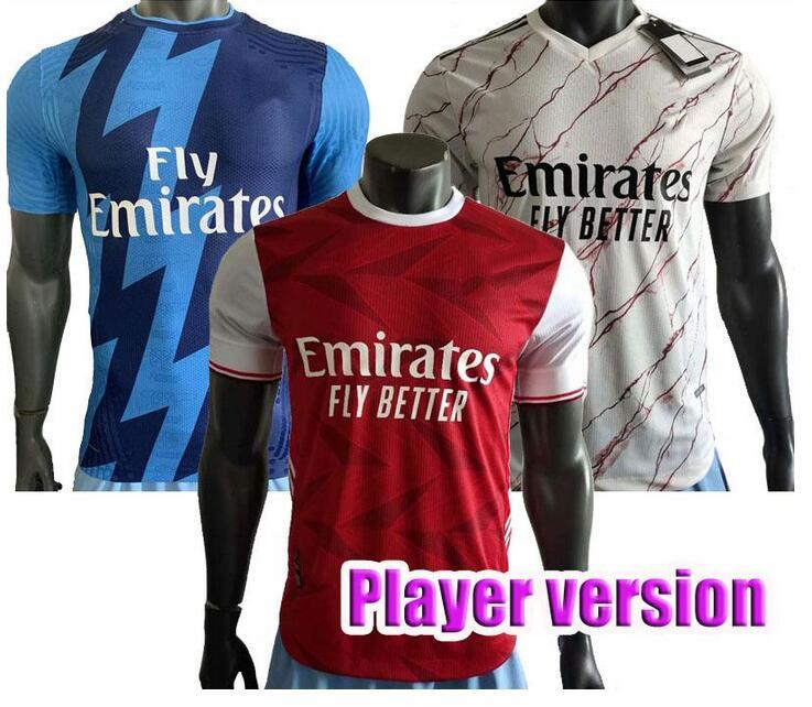 20 21 player Gunners Arsen maillots de football 2020 chemise PEPE NICOLAS CEBALLOS HENRY soccer Guendouzi SOKRATIS TIERNEY uniforme de football
