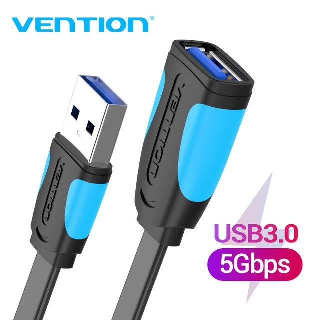 Cheap Data Cables Vention Extension Cable USB 3.0 Cable for Smart TV PC PS4 SSD USB3.0 2.0 to Extender Data Cord