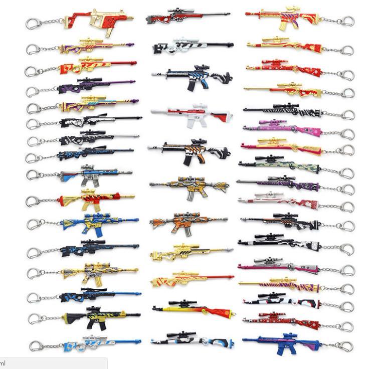 PUBG النخبة سلسلة مفتاح نموذج سلاح بندقية سلسلة المفاتيح المعدنية الصغيرة هدية 98K سلسلة معدنية مفتاح قلادة