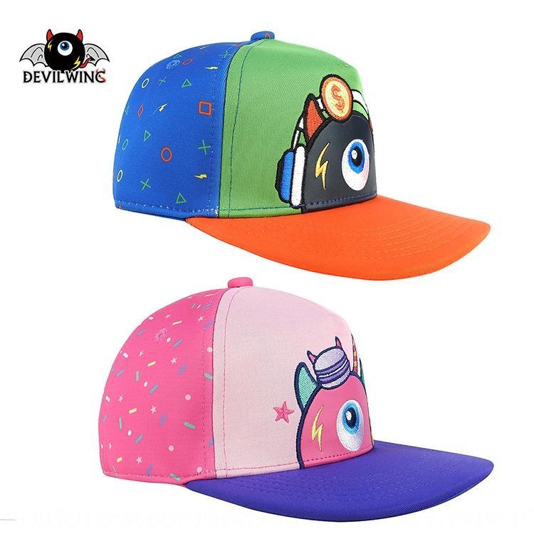 Koreli 2019 yeni bebek Bebek beyzbol şapkası güneş karikatür şemsiye çocuk beyzbol şapkası işlemeli güneş şapkası devilwing