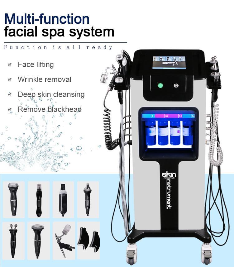 2021 Гидрофабрикальная машина для лица для лица для лица, очищенная кожей Гидрофазное лицо Ультразвуковая RF Гидраа Микродермабразия Кислородного пистолета