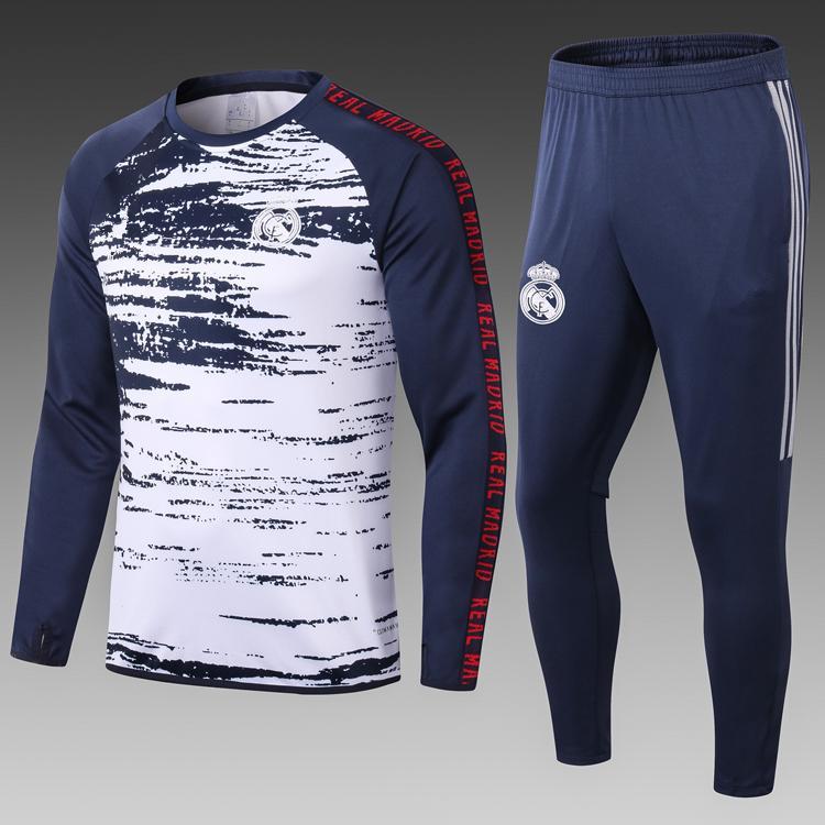 19 20 Adult real madrid soccer tracksuit 2019 2020 mbappe hazard Survetement de football training suit jogging man chandal futbol