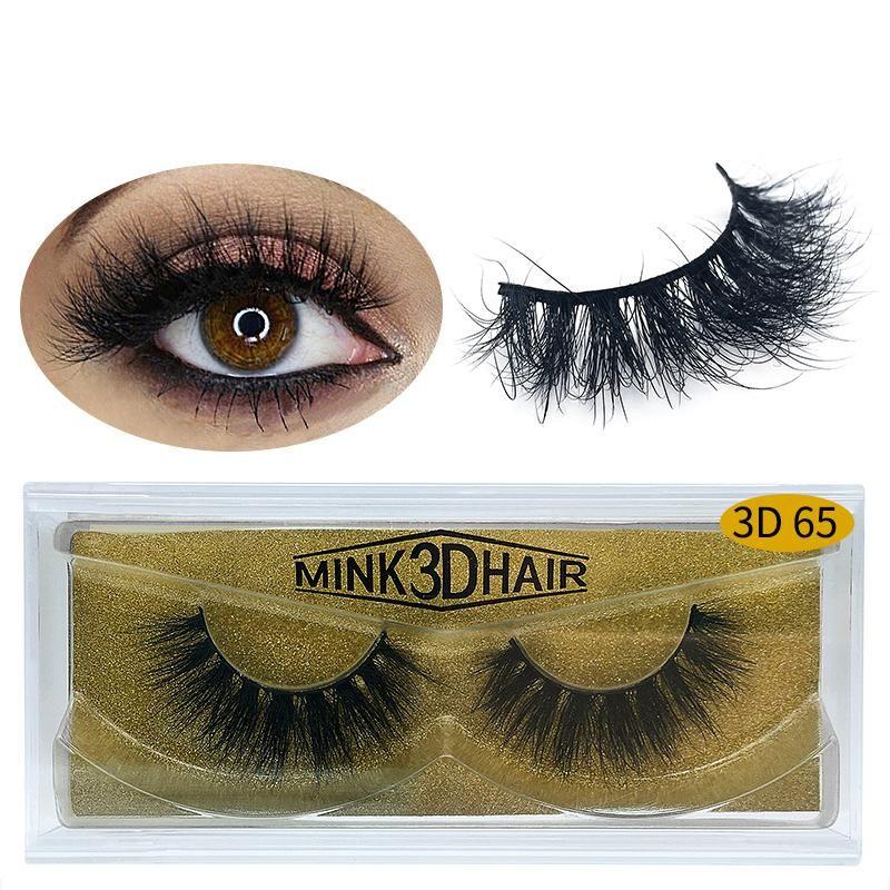 Nerz-Haar-Wimpern große 3D lang und dick 25mm Wimpern lange falsche Wimpern Wimpern Boxen 25 Styles 100 Echt Mink Lashes