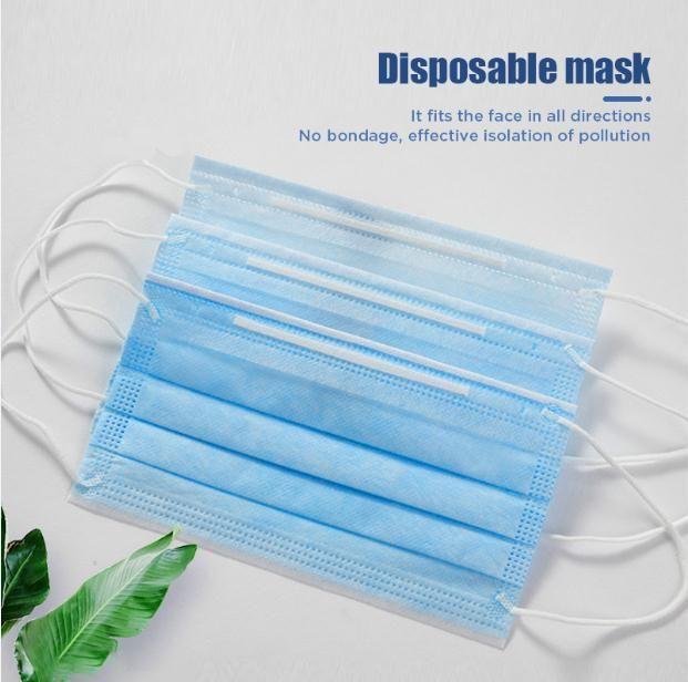 500pcs desechable Mascarilla de 3 capas gancho auricular boca del polvo de Máscaras de la cubierta de 3 capas no tejidas desechables máscara de polvo respirable suave del envío de DHL