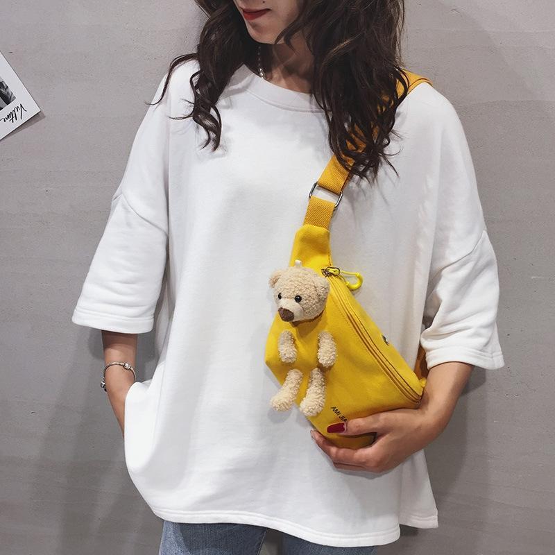 ocasional das meninas estilo coreano de Oj7iS As crianças devem messeng all-jogo correr pingente de urso bolsa de peito moeda Pendant infantil saco er tong bao