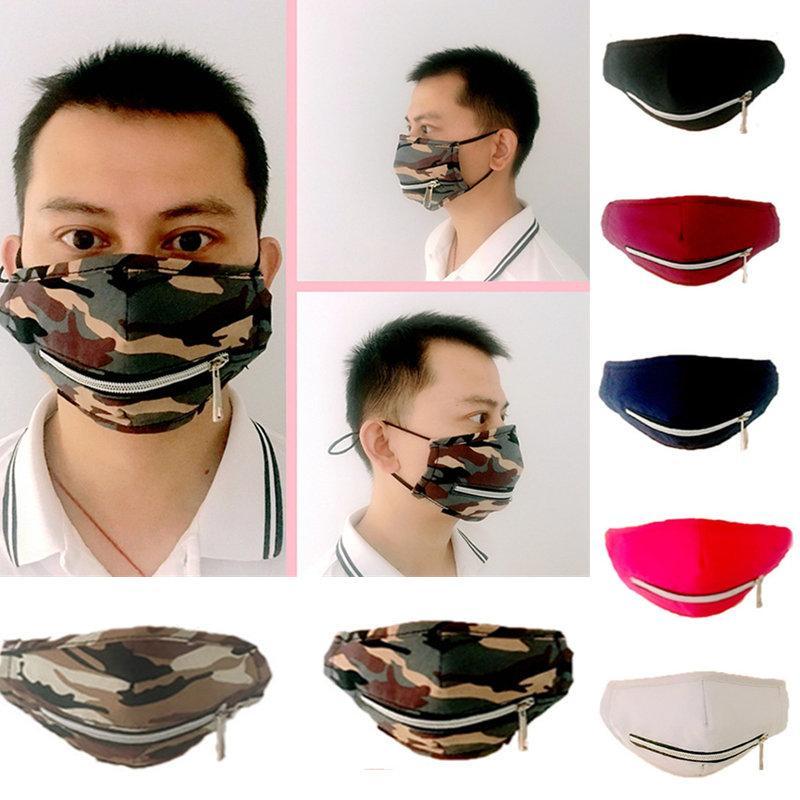 Nuove maschere Designer maschere a pieno protettiva viso apertura paglia e gli stili di personalità della chiusura lampo in bicicletta Maschera di trasporto