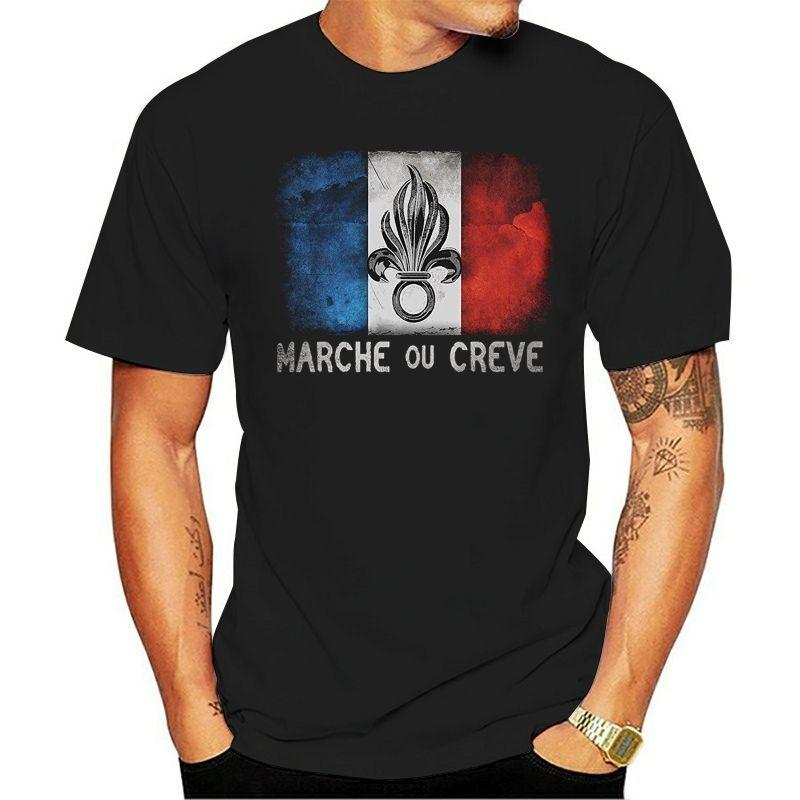 Тис Мужской Top Фитнес Brand T-Shirt Shirt Иностранный легион Франция Cult подарков Legion Desert оружие Army Tee Shirt Harajuku Одежда