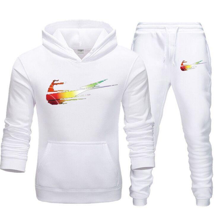Tuta Set uomo 2020 Autunno uomini New Fashion Felpa set Maschio Jogger Sportswear uomo vestito con cappuccio Pantaloni slim fit Sport Suit S-3XL