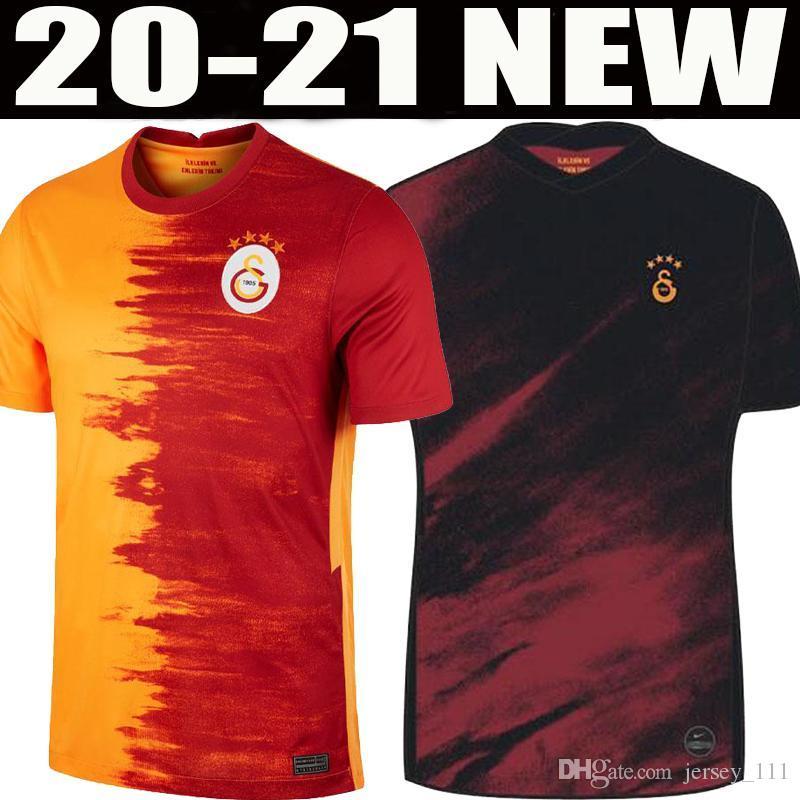 20 21 Galatasaray Futebol 2020 2021 GOMIS Linnes Cigerci Belhanda FERNANDO Feghouli DONK Casa Fora camisas de futebol