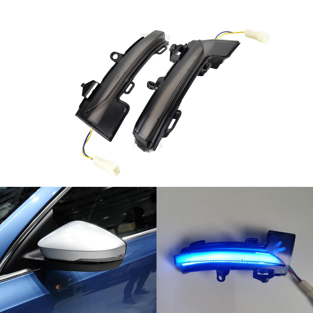 LED Dynamic Turn Signal Blinker Side Rear-View Mirror Indicator Light Fit For Skoda Octavia Mk3 5E 2013 2014 2015 2016 2017-2019