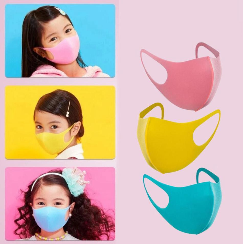 3pcs / set Masque Visage enfants Enfant anti-poussière Masque de protection Earloop extérieur cyclisme Masques anti-poussière lavable Cartoon OOA7773