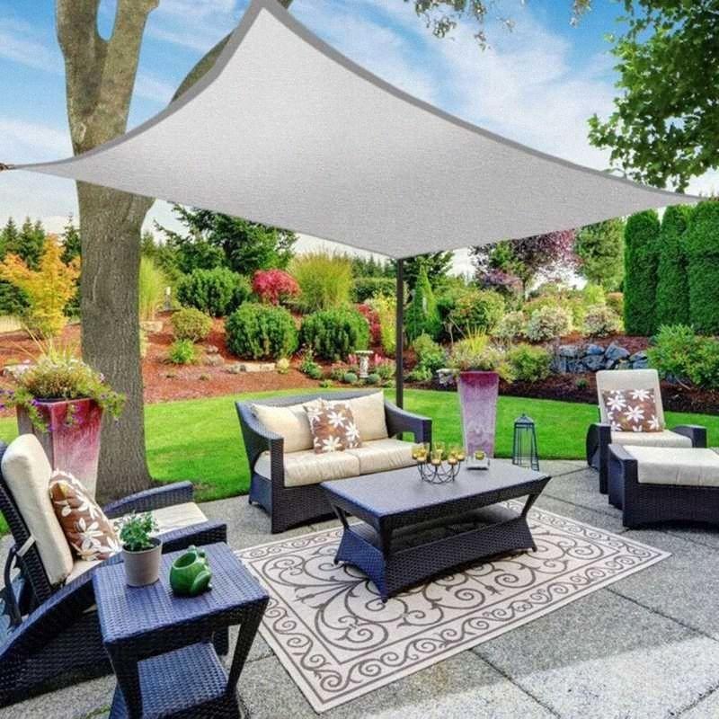 Wasserdichte Sun Shelter Rechteck Sonnenschutz-Schutzhülle Außen Canopy Garten Innenhof Pool Camping Sonnensegel Sonnensegel pO1N #