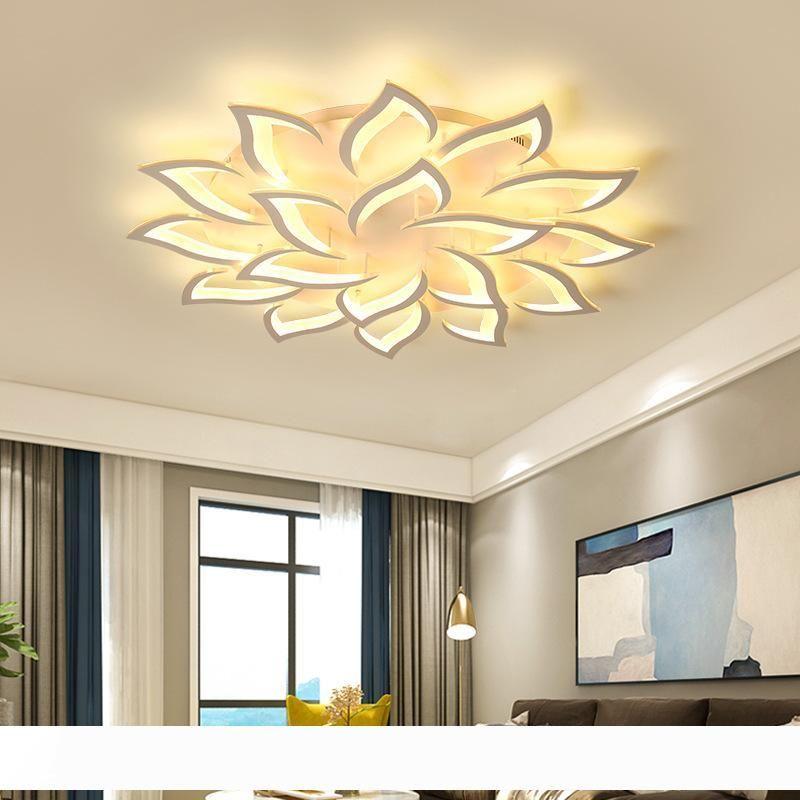 Накладные Современный Внутренний светодиодный Главная Люстра для кухни огни Крепеж для Dining декора гостиной Лампы с дистанционным диммируемым