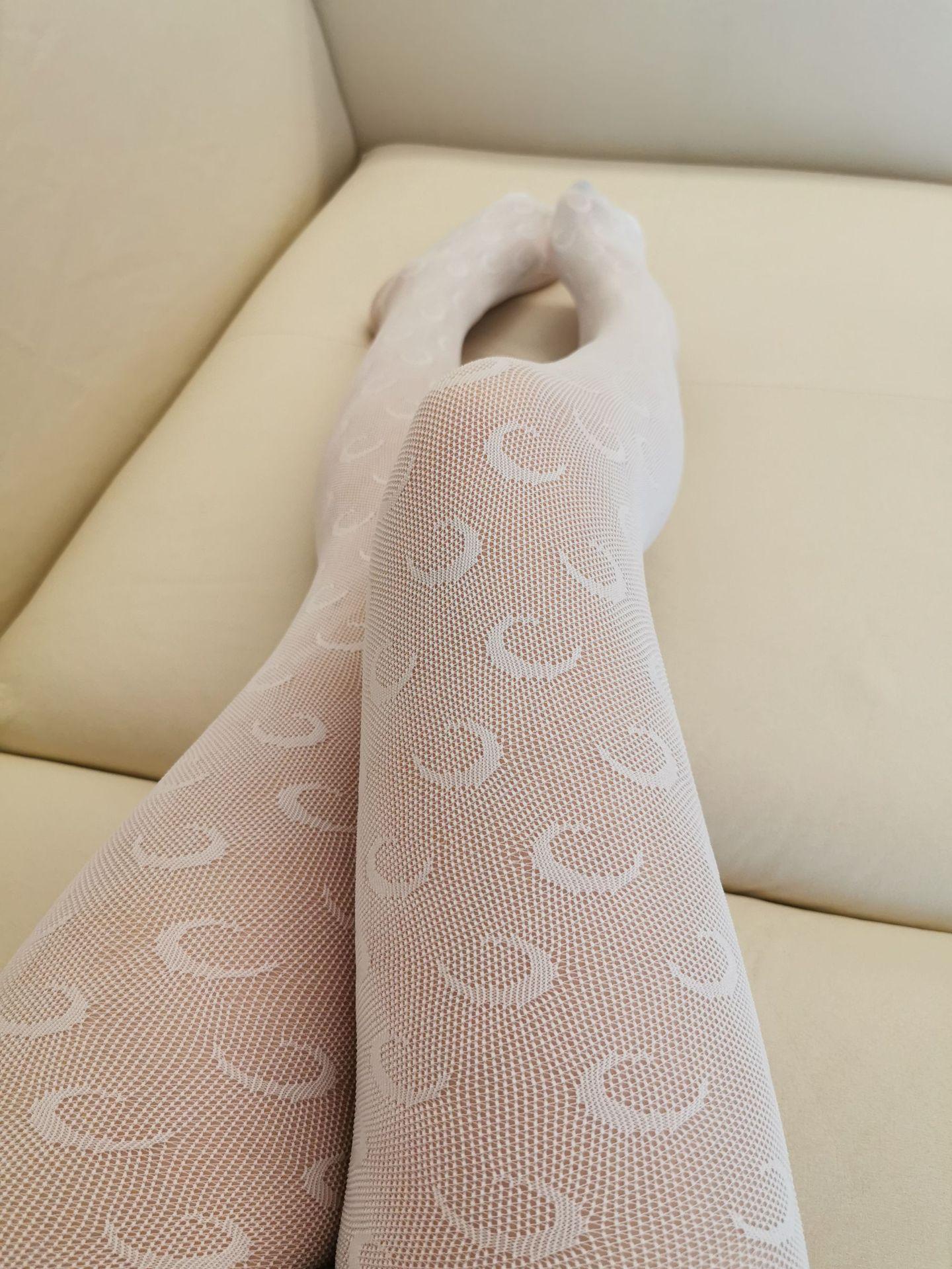 Donne sexy di modo calzamaglia calza nuove donne di arrivo Solido calzini lunghi di colore con Luna Stampato signore biancheria intima calza 2 ColorsMA 01