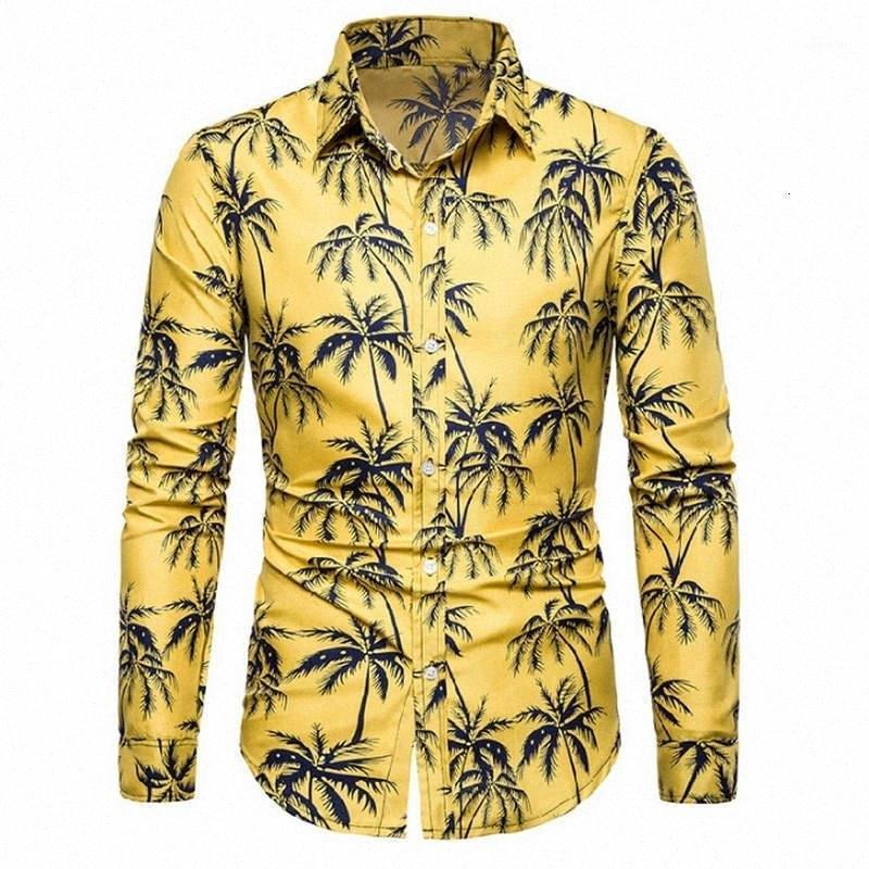 Bahar 20191 LYYI # Erkekler Yeni Moda Uzun Kollu Erkek Boş Gömlek Uzun Kollu Leisure Gömlek