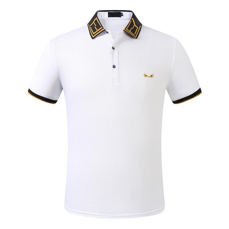 FF Mens Designer petit cheval lettre tissu crocodile vêtements hommes broderie polo t-shirt col shirt t-shirt casual tops 629