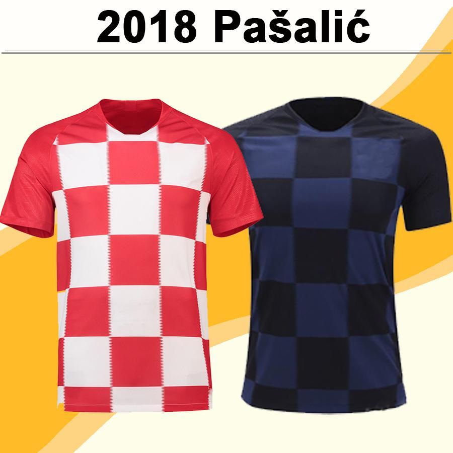 2018 MODRIC KOVACIC Mens Soccer Jerseys PAKITIC PERISIC Football Shirts National Team Home Away Uniforms