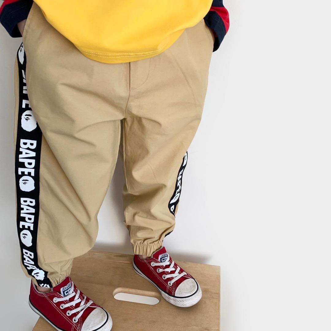 Calças New Kids Sports Primavera Outono Bebés Meninos Sólidos Pants Cor Kids Clothing algodão Moda Stripe calças compridas