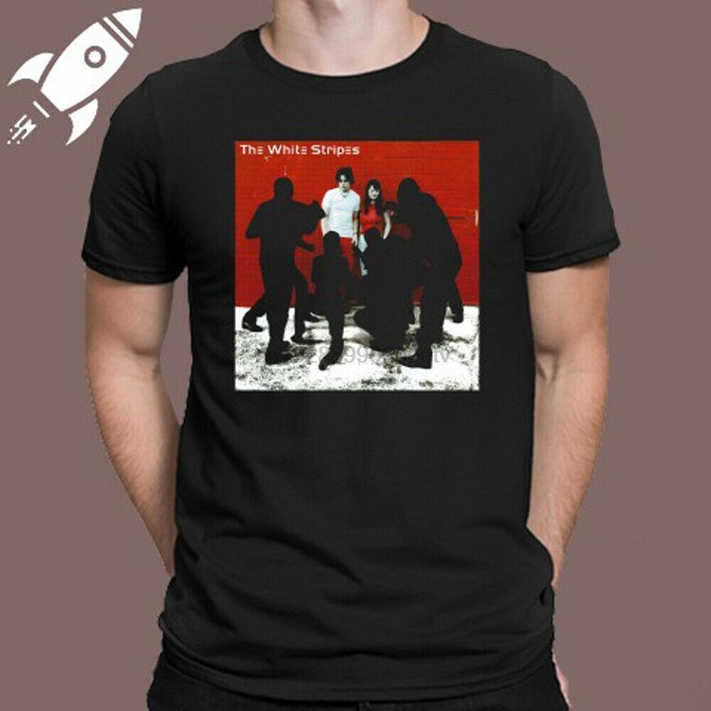 The White Stripes weißen Blutkörperchen Mens-Schwarz-T-Shirt Größe S M L XL 2XL 3XL